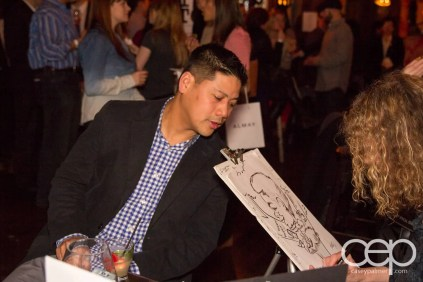 After Work Drinks Toronto 8 — #AWDTO — Joallore Alon checking on his caricature