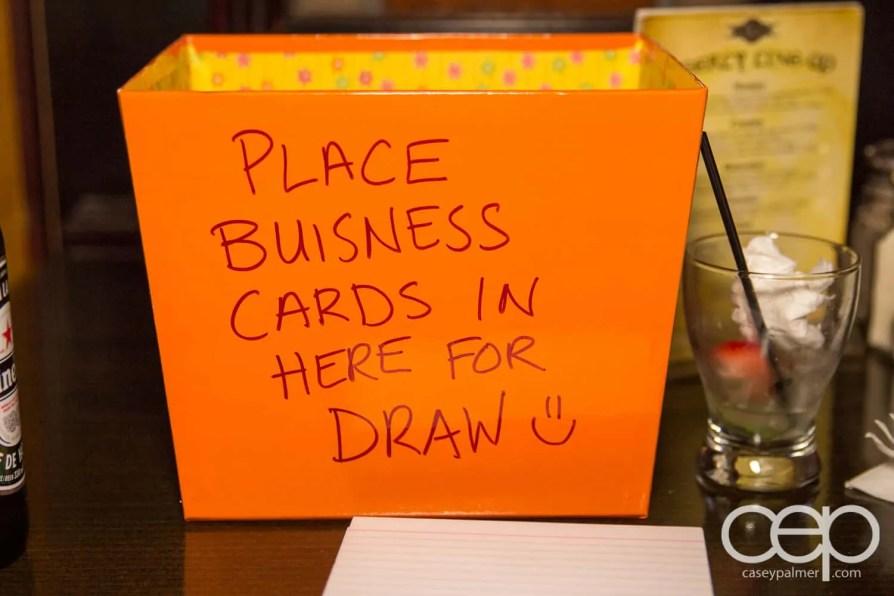 After Work Drinks Toronto 8 — #AWDTO — Business Card Draw Box
