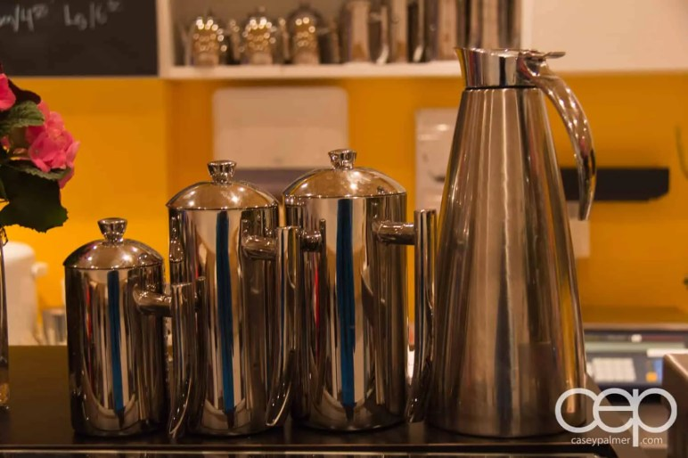A few carafes at Karelia Kitchen
