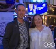 Michael McGowan and Christine Pantazis at the Women's Brain Health Initiative launch party.