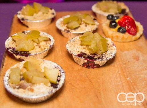Fruit tarts at the Women's Brain Health Initiative launch party.
