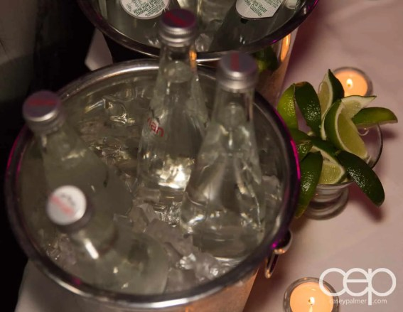 Chilled water at the Women's Brain Health Initiative launch party.