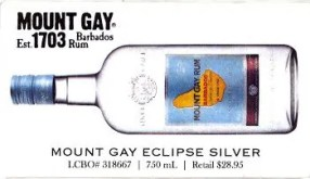 After Work Drinks Toronto 8 — #AWDTO — Mount Gay Eclipse Silver Recipe Card