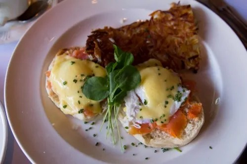 BiSC and Las Vegas 2013 — Paris — Mon Ami Gabi — Smoked Salmon Eggs Benedicts + Hashbrowned Potatoes
