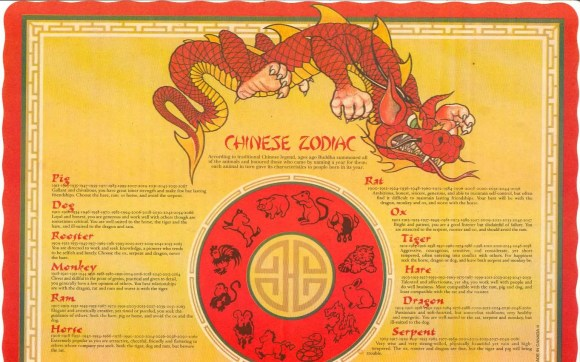 Scarborough Dishcrawl II — L's Chinese Eatery — Chinese Zodiac Placemat