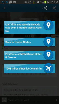 BiSC and Las Vegas 2013 — Foursquare — Check-in at the MGM Grand