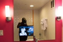 BiSC and Las Vegas 2013 — The Flamingo — Go Rooms — TV in the Mirror in the Bathroom!