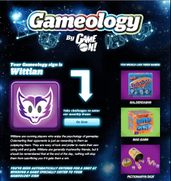 Mattel Game On! Gameology — Gameology Quiz — Wittian Profile Description