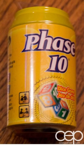 The Phase 10 Dice Game I received in my Mattel Game On! box.
