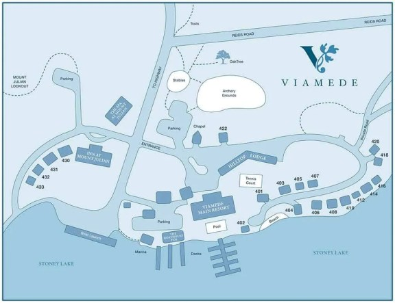 Viamede Resort & Dining — Grounds Map