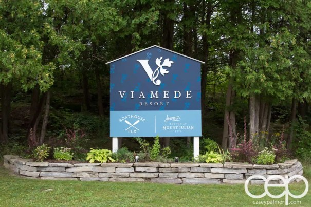 Viamede Resort & Dining — The Entrance Sign