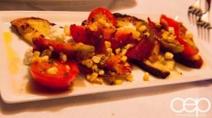 Viamede Resort & Dining — The Inn at Mount Julian — Crostini with Marinated Buffalo Mozzarella, Buffalo Mozzarella and Summer Corn
