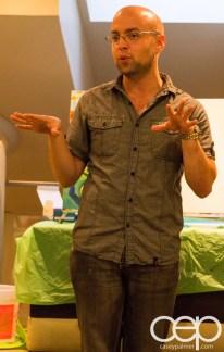#BuytopiaPaintNite — Paint Nite Toronto — Banu — Nathan Schonberger's opening remarks