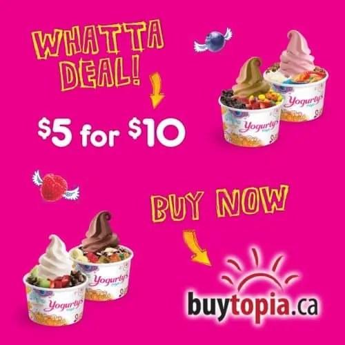 #BUYogurtys — Buytopia.ca and Yogurty's — Buytopia.ca Deal Flyer