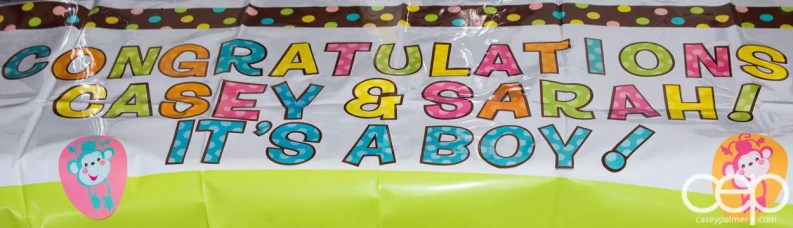 The DoomzToo Birth Story — Sarah's Baby Shower — Congratulations Banner
