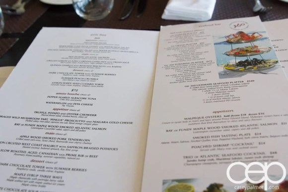 CN Tower — 360 - The Restaurant at the CN Tower — Menu