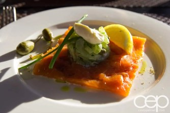CN Tower — 360 - The Restaurant at the CN Tower — Summer Menu - Prix Fixe — BAY OF FUNDY MAPLE WOOD SMOKED ATLANTIC SALMON