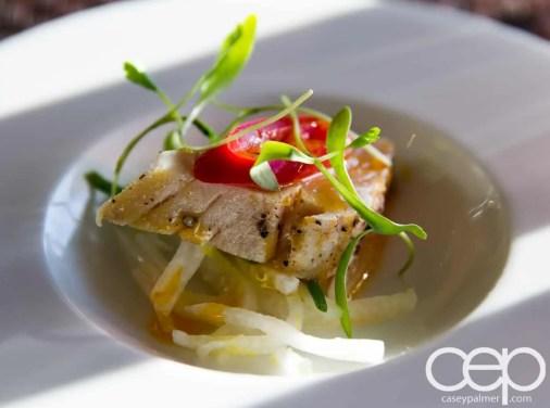 CN Tower — 360 - The Restaurant at the CN Tower — Summer Menu - Prix Fixe — PEPPER SEARED ALBACORE TUNA