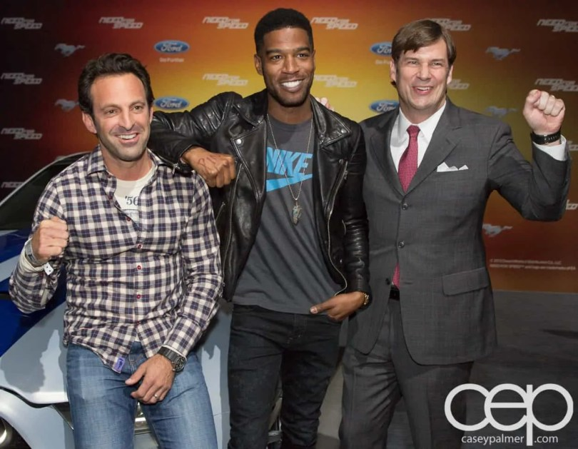 #FordNAIAS 2014 — Day 2 — Cobo Hall — Behind the Blue Oval — Need for Speed Screening — Scott Waugh, Scott Mescudi (aka Kid Cudi) and James D. Farley, Jr., Executive Vice President of Global Marketing, Sales and Service and Lincoln, Ford Motor Company
