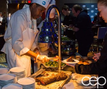 #FordNAIAS 2014 — Day 2 — Cobo Hall — Behind the Blue Oval — Need for Speed Screening — Chefs Preparing the Beef Tenderloin