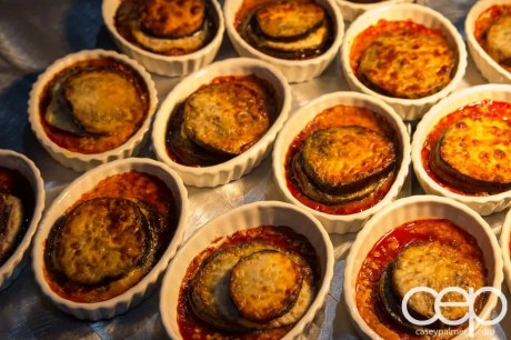 #FordNAIAS 2014 — Day 2 — Cobo Hall — Behind the Blue Oval — Need for Speed Screening — Mini eggplant parmesan