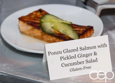 #FordNAIAS 2014 — Day 2 — Cobo Hall — Behind the Blue Oval — Need for Speed Screening — Panzo glazed salmon with pickled ginger and cucumber salad