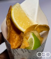 #FordNAIAS 2014 — Day 2 — Cobo Hall — Behind the Blue Oval — Need for Speed Screening — Hand Breaded Fish & Chips