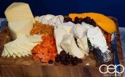 #FordNAIAS 2014 — Day 2 — Cobo Hall — Behind the Blue Oval — Need for Speed Screening — Rustic Inspired Cheese Display