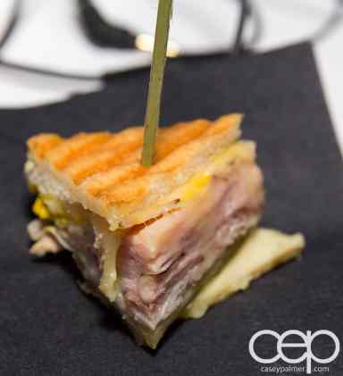 #FordNAIAS 2014 — Day 2 — Cobo Hall — Behind the Blue Oval — Need for Speed Screening — Mini Ham and Cheese Panini