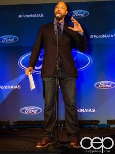 #FordNAIAS 2014 — Day 1 — The Westin Lindbergh Ballroom — Dinner Event — The Moth Storytelling Presentation — Shannon Cason