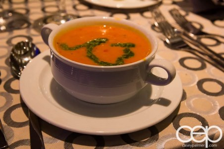 #FordNAIAS 2014 — Day 1 — The Westin Lindbergh Ballroom — Dinner Event — Tomato Soup with Pesto
