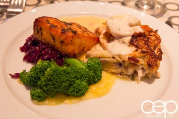 #FordNAIAS 2014 — Day 1 — The Westin Lindbergh Ballroom — Dinner Event — Chicken and Salmon Dish