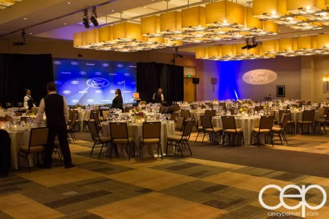 #FordNAIAS 2014 — Day 1 — The Westin Lindbergh Ballroom — Dinner Event — The Start of the Dinner Event