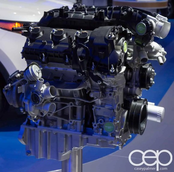 #FordNAIAS 2014 — Day 2 — Cobo Hall — North American International Auto Show — Ford Motor Company — 3.5L EcoBoost V6 Engine