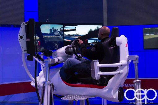 #FordNAIAS 2014 — Day 2 — Cobo Hall — North American International Auto Show — Ford Motor Company — Simulator