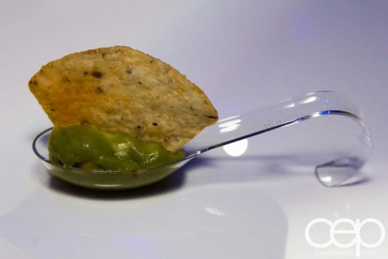 #FordNAIAS 2014 — Day 2 — Cobo Hall — Behind the Blue Oval — Need for Speed Screening — Guacamole and Chip Appetizer