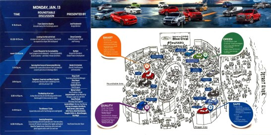 #FordNAIAS 2014 — Day 2 — Cobo Hall — Behind the Blue Oval — Guide