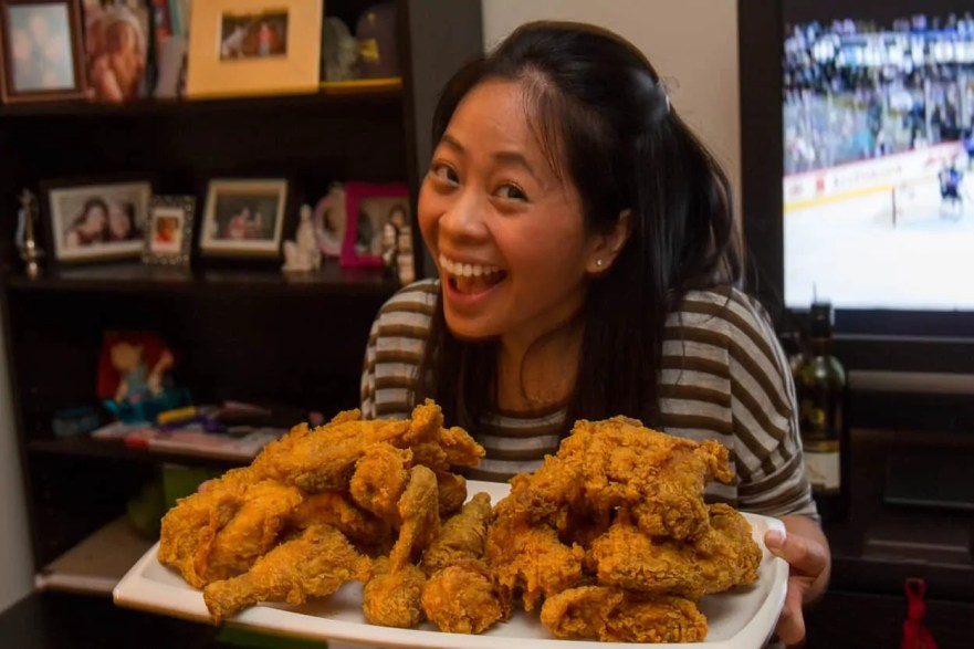 Team Trolling Christmas 2014 — Food —Lily with the Popeye's Chicken