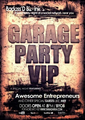 #100HappyDays — Day 29 — Badass'D Biz+Ink — Garage Party VIP