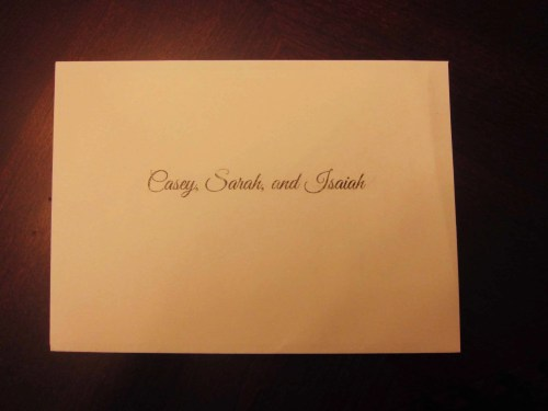 #100HappyDays—Day 22—Wedding Invitation to the Family