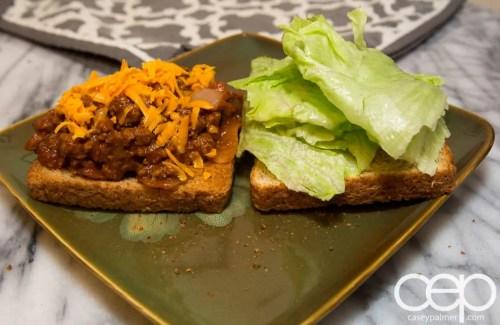 Dempster's DIYSandwich — Sloppy Joes — Sandwich Open Angle