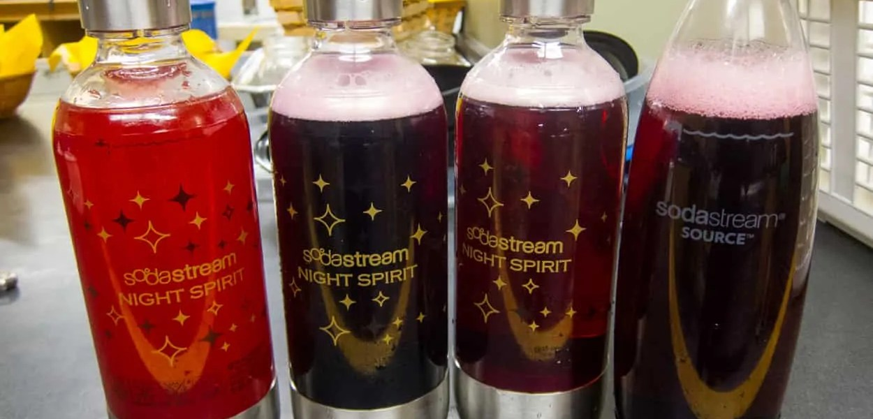 SodaStream at My Little One's Dedication — Kool-Aid Tropical Punch, Cranberry Ocean Spray, Cranberry Raspberry Ocean Spray, Cranberry Grape Ocean Spray