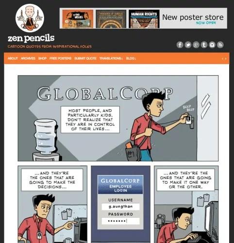 10 Links You Should Click — Zen Pencils || 150. JIM HENSON: A puppeteer's advice