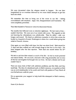Jim and Susan Banister letter- 2
