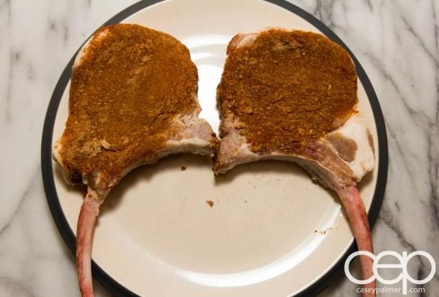 #SamInHand — Beer-Brined Pork Chops — Spice Rubbed Chops