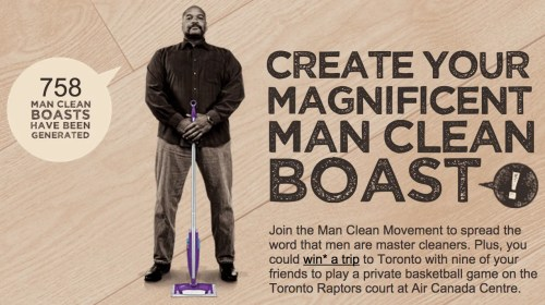Swiffer Man Clean—ShowYourClean.ca