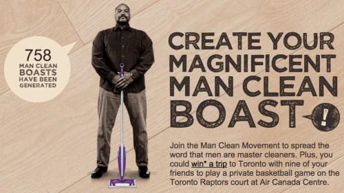 Swiffer Man Clean—ShowYourClean.ca