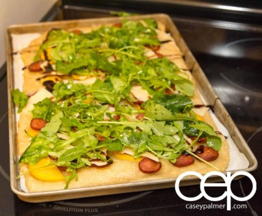 Persimon® Says — Persimon® and Chorizo Pizza — Pizza with Arugula Toppings