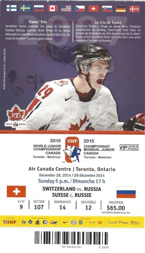 2015 IIHF World Junior Championship—Switzerland vs Russia