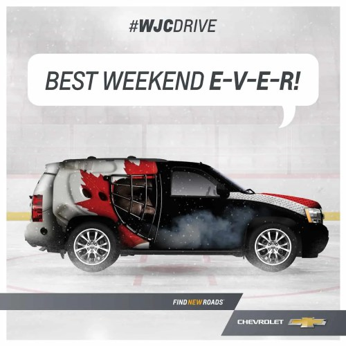 WJCDrive—2015 Chevy Traverse Hockey Canada